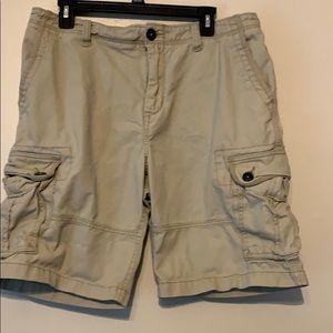 Aeropostale cargo shorts tan size 34
